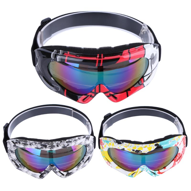 Ultraviolet Protection Skiing Sunglasses Motorcycle Ski Goggles Lens Frame Glasses Cycling Riding Sports Anti-Fog Eyewear