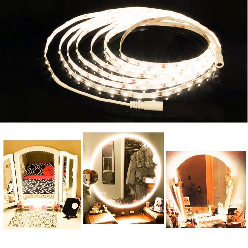 Herrlich 13ft/4 M 240 Leds Make-up Spiegel Lampe Streifen Bar Hollywood Stil Eitelkeit Spiegel Dimmer Flexible Licht Kits Für Diy Kosmetik Spiegel Spiegel Schminkspiegel