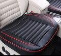 Pedaço único conjunto de tapetes de carro quatro estações de Couro pu à prova d' água respirar livremente almofada do assento de carro tampas de assento do carro para universal carro