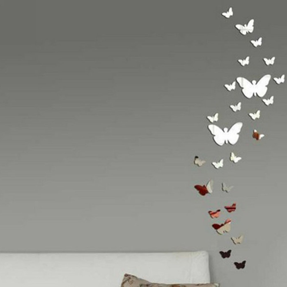 3d mirror wall choice image home wall decoration ideas mirror wall art stickers choice image home wall decoration ideas 30pcs diy 3d modern butterfly combination amipublicfo Gallery