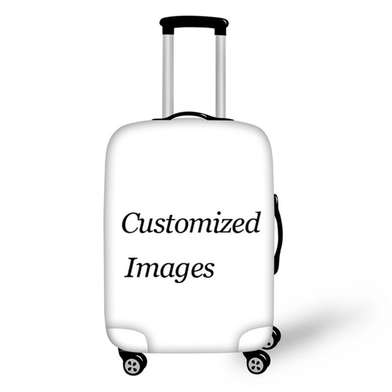 Custom Images Travel Luggage Protective Cover For 18-30 Inch 3D Printing Elastic Thick Suitcase Covers With Zipper