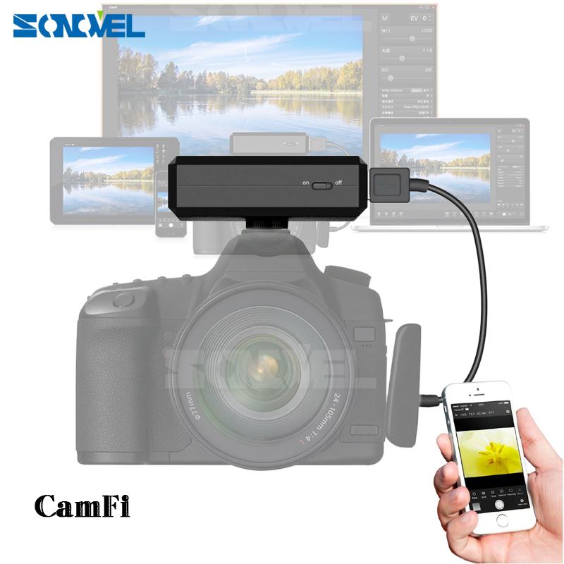 CamFi CF102 Wireless Wifi DSLR Camera Remote Controller Capture Transmit Wireless Tablets for iPad iPhone PC TV SONY CANON game controller joysticks for iphone ipad tablets more black transparent 2 pcs