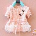 Baby girls Chiffon cardigan coat spring and autumn new style long sleeve coat children's clothing