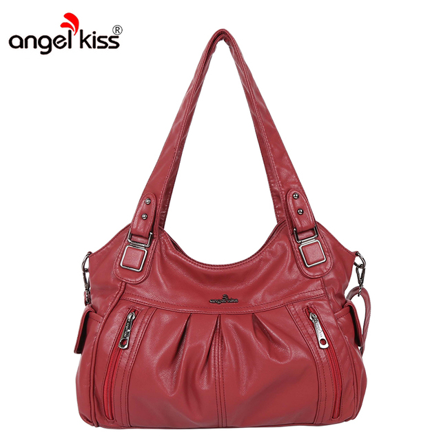 Angelkiss Brand Pu Washed Handbags Women Shoulder Bags Hobos Handbag For High Quality Bag Designer Crossbody Us 36 62