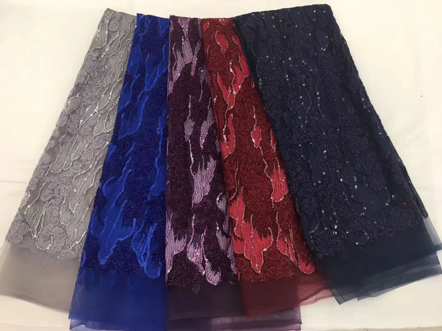BEAUTIFICA african lace fabric with sequins 2018 sequin fabric tulle sequins lace fabric for evening dresses 5yards/lot FJN12BEAUTIFICA african lace fabric with sequins 2018 sequin fabric tulle sequins lace fabric for evening dresses 5yards/lot FJN12