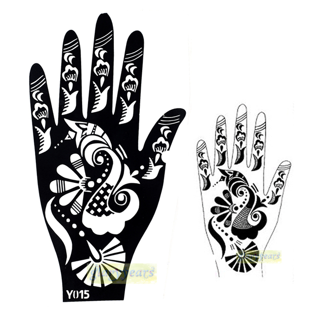 Buy 1pc hot large india henna tattoo for Henna temporary tattoo stencils