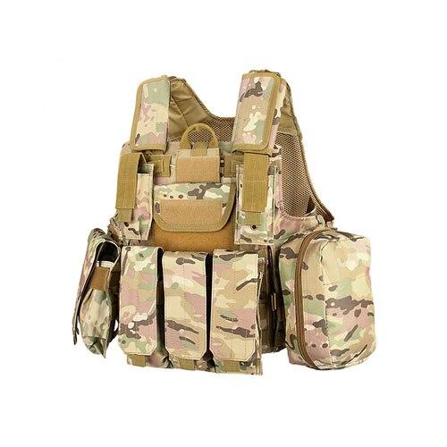 Tactique Militaire 600D Oxford Tissu Molle Airsoft Combat Gilet Ver En Plein Air Gilet Specter Vitesse Pour Paintball Accessoire HS4-0028