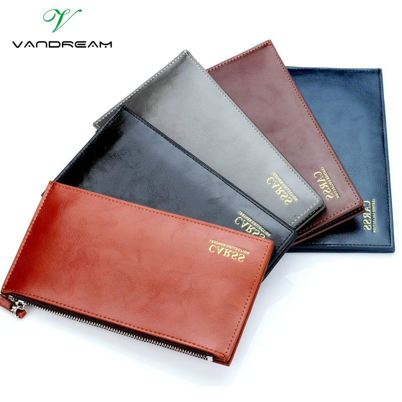 2016 New Fashion Luxury Vintage Retro Pu Leather Men Long Wallet Coin Purse Clutch With Zipper Hasp For Women Cards Phone Holder