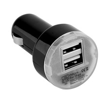 Hot New Arrival Mini Dual 2 Port USB Car Power Charger Adapter for iPhone6/6PLUS 5S Android phone iPod Camera