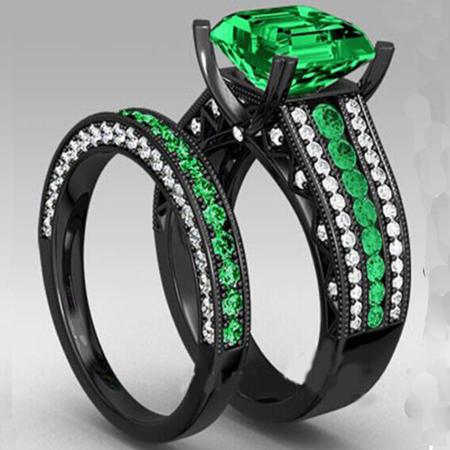 Yayi Fashion Women's Jewelry Couple Ring Green Cz Black Engagement Rings  Wedding Rings Party Rings Giftin Rings From Jewelry & Accessories On