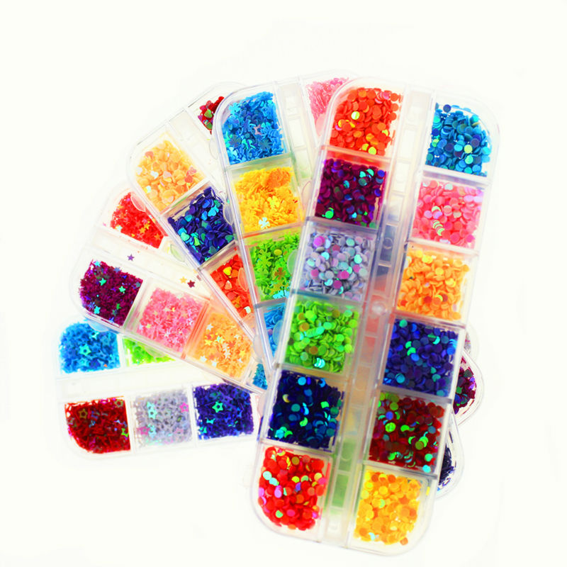 Colorful glitter gel nails nails decorations new arrive for Acrylic nail decoration supplies