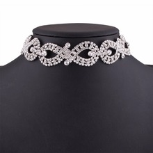 Women T Cross Clavicle Necklaces Luxury Crystal Choker Necklace