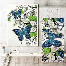 % 5d DIY plant Flower butterfly Branch Diamond Embroidery Special Shaped Diamond Painting Needlework Rhinestone Crystal Painting