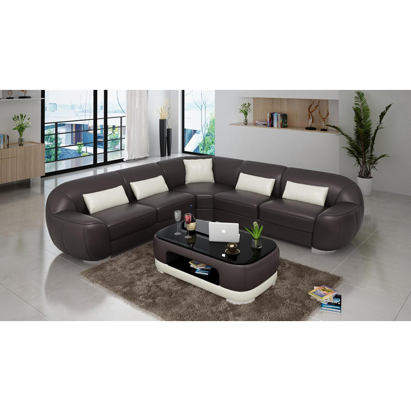 good sofa sets futon quality customized color dark drown l shape set with coffee table