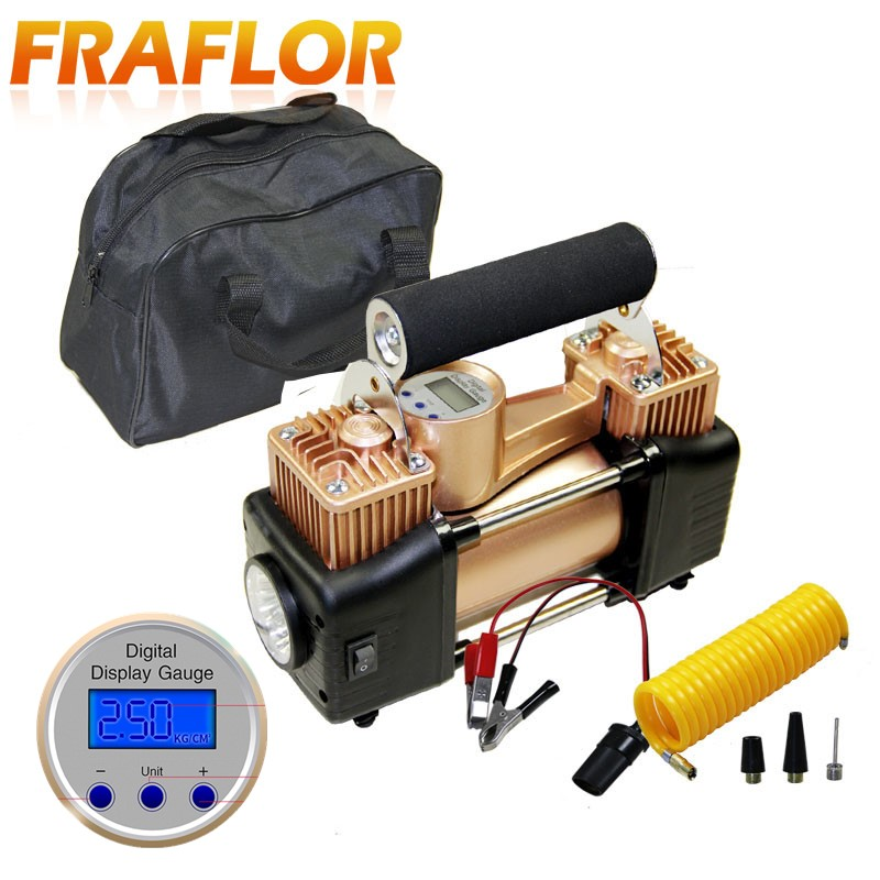 12V 150PSI Portable Heavy Duty Double Cylinder Car Air Compressor Tire Inflator Pump Universal for Car
