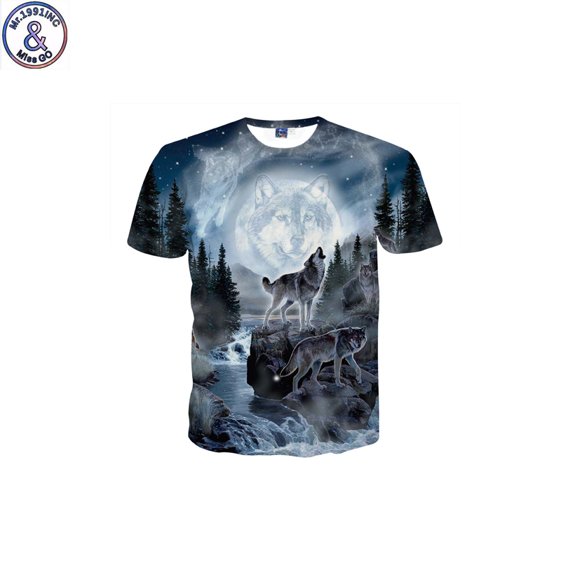 Mr.1991 brand funny design Full moon wolf 3D printed t-shirt for boy new fashion short sleeve kids t shirt teenage tops DK16Mr.1991 brand funny design Full moon wolf 3D printed t-shirt for boy new fashion short sleeve kids t shirt teenage tops DK16