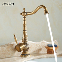 High Quality New Arrival Bathroom Antique Carving Mixer Faucet Basin Countertop Euro Style Noble And Elegant
