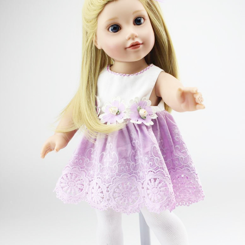 цены New 18 Inch American Girl Doll Reborn Realistic Babies Doll Toys Vinyl Lifelike Kids Birthday Play House Brinquedos Reborn Baby