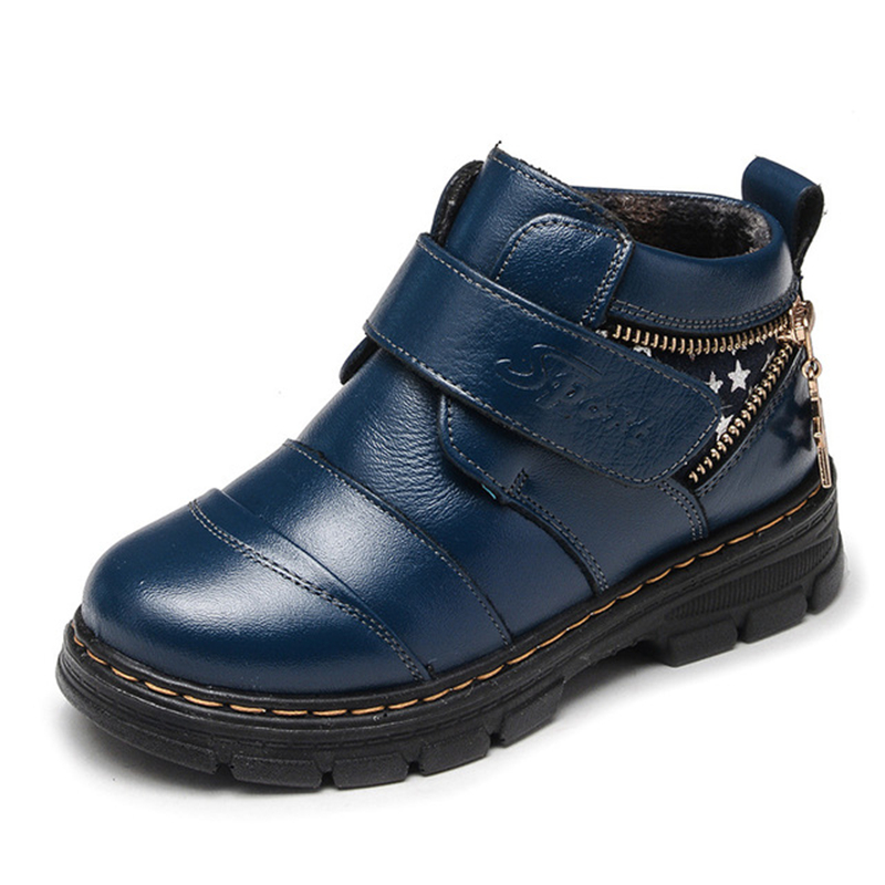 Kids Fashion Hook And Loop Leather Boots Comfortable Thick Flat Round-Toe Boys Shoes Boys Non-Slip Soft Bottom Boots AA60131Kids Fashion Hook And Loop Leather Boots Comfortable Thick Flat Round-Toe Boys Shoes Boys Non-Slip Soft Bottom Boots AA60131