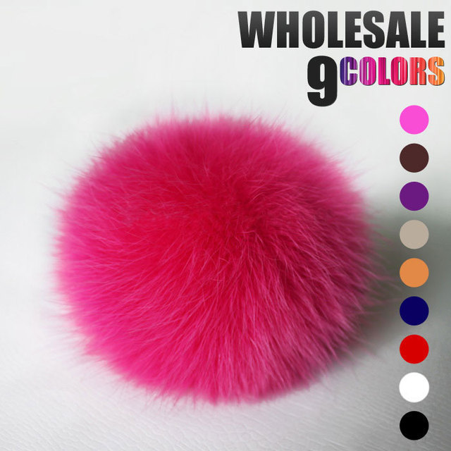 Real Fox Fur Ball Fur Pom Pom for Women Hot Sale for Winter Fur Hats and Children Accessories for Women Child Fur Beanie & Hat