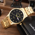 Luxury CHENXI Men Dress Watch Gold Rhinestone Stainless Steel Man Casual Quartz Wristwatch Waterproof relogio masculino