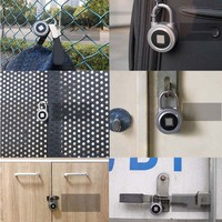 Fingerprint Recognition Bluetooth Lock APP Control Anti Theft Padlock for Gate Luggage Bicycle SL@88