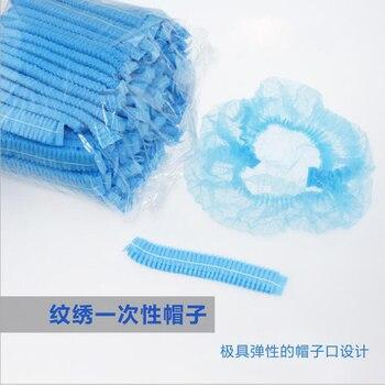 100 Uds. Gorras de maquillaje permanente gorro estéril accesorios de microblading para tatuar cejas gorro de ducha para el pelo azul desechable