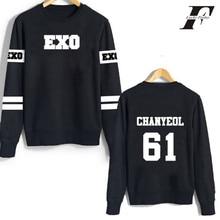 LUCKYFRIDAYF kpop exo hoodies sweatshirt kar sehun xiumin baekhyun terra sticker women/men harajuku winter outwear xxxxl clothes