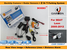 For SEAT Leon 2005-2012 – Car Parking Sensor+ Rear View Camera 2in1 Assistance System – 4 Radars