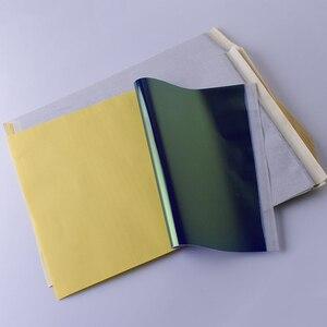 Image 3 - 10Pcs גיליונות קעקוע מכונת צילום העברת נייר רוח סטנסיל פחמן תרמית התחקות גוף אמנות מתאר ערכת A4 יופי אבזרים