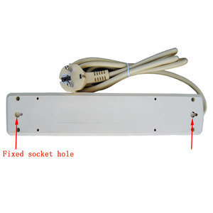 Image 2 - 250V 16A poder de la UE de múltiples, 2, 3, 4, 5, 6 agujero forma tomacorrientes de CA enchufe extensor hembra 4,8mm 2 Pin red de cable filtro para casa