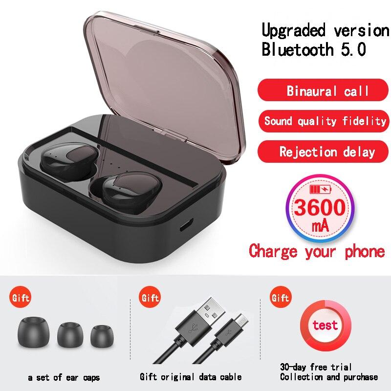 Écouteurs sans fil 5.0 Bluetooth 3D bip basse HiFi son extérieur sans fil écouteurs avec 3600 MAh batterie externe pour IOS Android