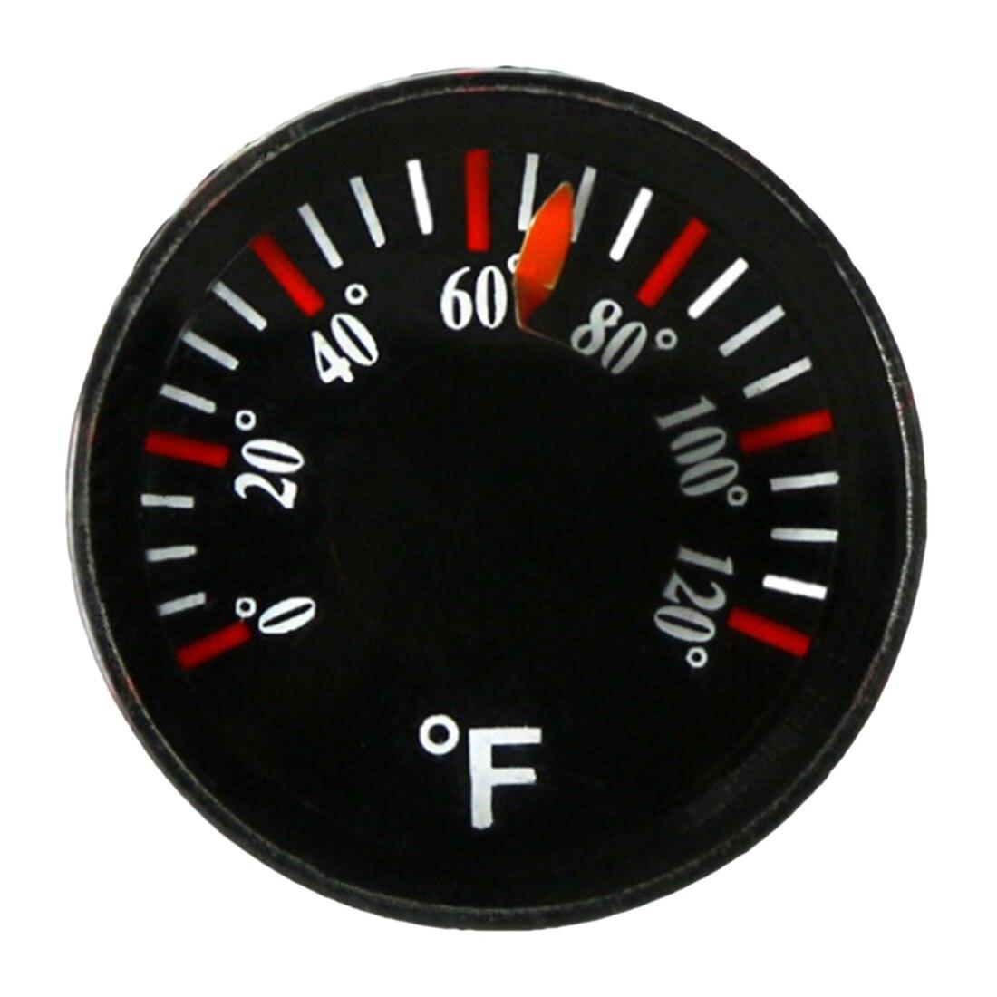 Diâmetro circular 20mm do hidrothermograph de fahrenheit do espírito do mini termômetro redondo plástico 0-120 f mini