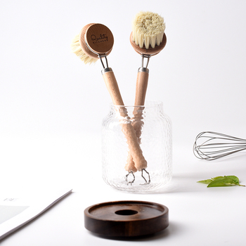 Natural Pan Cleaning Brush Wooden Handle Dish Cup Bottle Pot Washing Brushes Multifunctional Kitchen Cleaning Accessories Tools 4