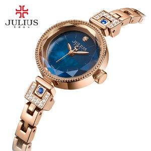 Image 4 - Mały pazur ustawienie masy perłowej Julius zegarek damski japonia Quartz godzina dzieła moda kobieta zegar łańcuch bransoletka dziewczyna pudełko