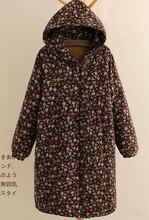 Зимой 2015 новые продукты, оригинальный дизайн более свободно большие ярдов хлопка женский длинный хлопок-проложенный одежды