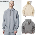 NEW fashion hiphop fog fear of god unisex justin bieber Irregular cutting stitching  zipper hoodie pullover gray khaki TC192