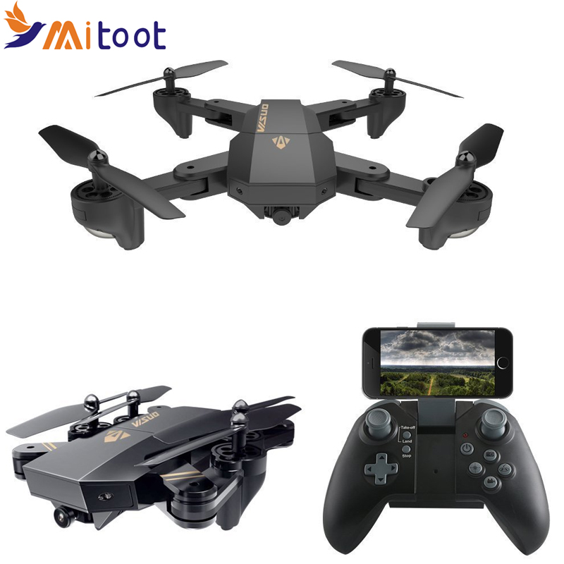 XS809HW XS809W Wifi FPV Drone Foldable Selfie Drone With 0.3MP 2MP HD Camera Altitude Hold Quadcopter 8807w drone with 0 3mp hd camera or 2mp hd camera foldable rc quadcopter altitude hold helicopter wifi fpv pocket drone