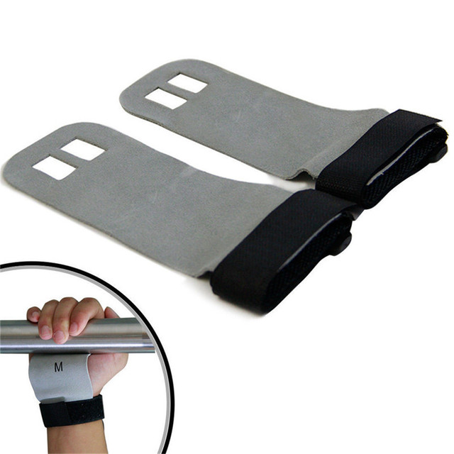 Sports Gym Training Leather Palm Protector Gymnastics Weight Lifting Grip Pull Up Hand Guards Fitness Equipment S/M/L