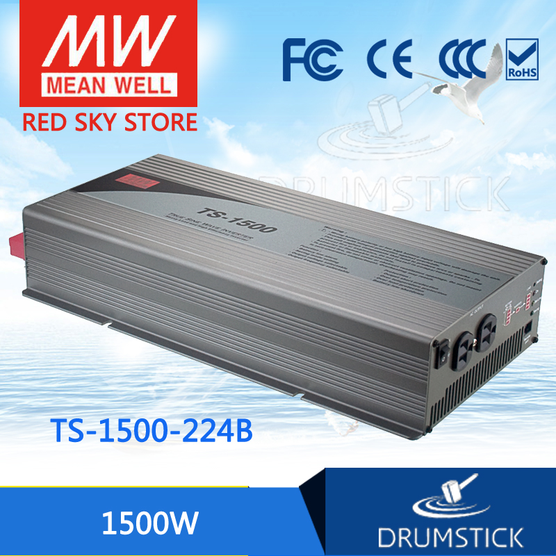 цена на Advantages MEAN WELL TS-1500-224B EUROPE Standard 230V meanwell TS-1500 1500W True Sine Wave DC-AC Power Inverter