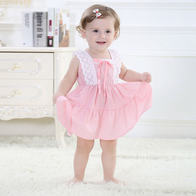 Aliexpress.com : Buy Pink 100% Cotton Baby Girl Dress For ...