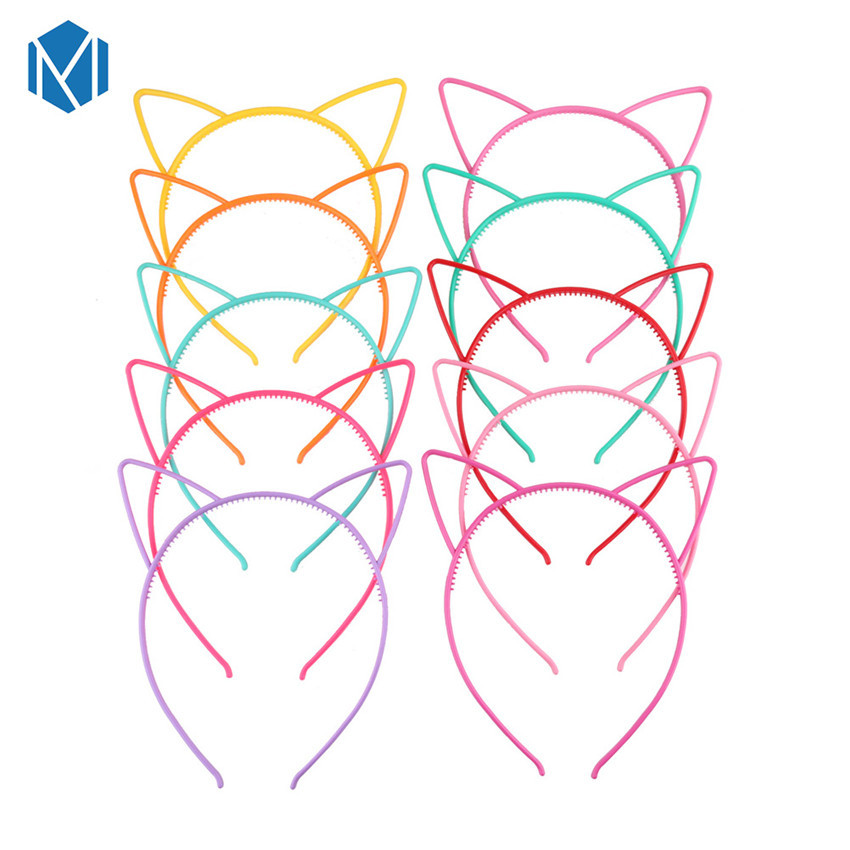 M MISM 2019 New Fashion Cat Ears Headbands For Girls Cute Cat Bezel With Ears Children Hair Hood Baby Hair Accessories For Girls