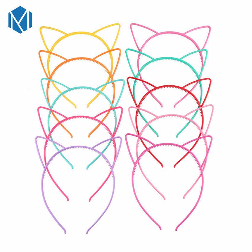 M MISM/2019 новые модные ободки с кошачьими ушками для девочек, милый ободок с кошачьими ушками, Детский капюшон, детские украшения для волос для девочек