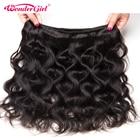 Wonder girl Brazilian Body Wave Bundles Hair Extension 100% Human Hair Bundles Natural Color Remy Hair Weaving Free Shipping 1PC