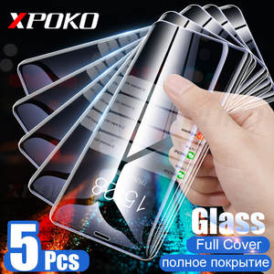 1-5Pcs Protective Glass For iphone XS Max XR X 6 6s 7 8 plus 5s SE Screen Protector 9H Tempered Glass on iphone X 7Plus 5 glass