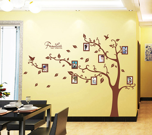Family memory photo tree xl wall sticker home decor diy art decals ...