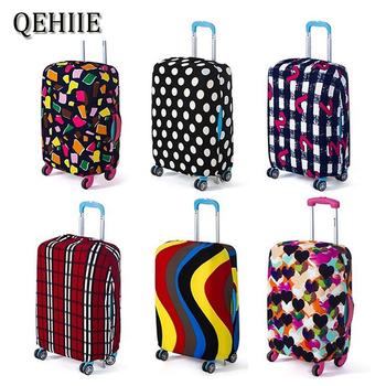 Moda walizka pokrywa wysoki elastyczny pasek miłość serce w kształcie walizki pokrowiec na kurz For18-32Inch walizka podstawowe akcesoria tanie i dobre opinie W QEHIIE Elastyczna tkanina Paski Pokrowiec na bagaż Tkanina bąbelkowa H-35 w 75cm 45cm 260g 30cm Akcesoria podróżne