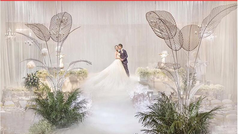 The wedding stage of the wedding ceremony of the new wedding ceremony is decorated with a set of background road in Party DIY Decorations from Home Garden