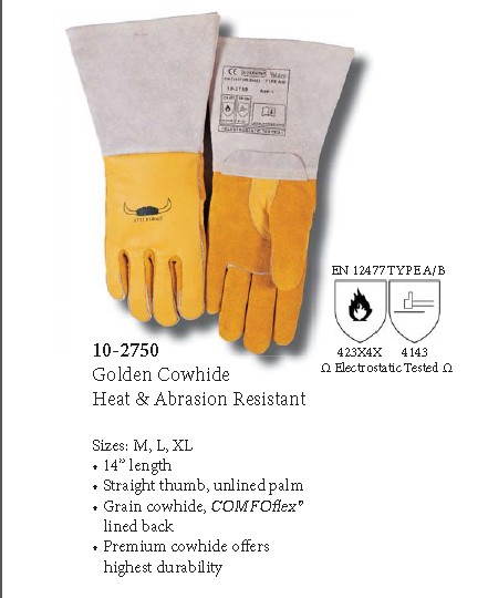 Free Shipping Hot Sale Cow Split Leather Welding Gloves Safety Work