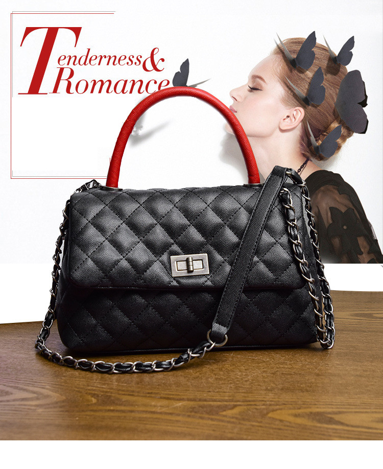 ICEV New Simple Quilted Chains Women Leather Designer Handbags High ... ae69037a7e55f